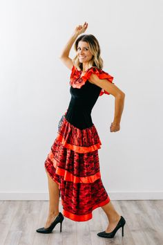 Cancan costume from