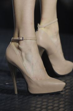 Essential! neutral high heels pumps @ Lanvin Spring 2013 Paris Fashion Week #PFW nude sandal heels with tan skin love it not so much with pale skin