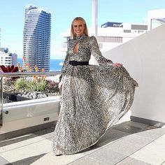 LOGIES: One of this year's Red Carpet hosts wearing The Vienna Gown custom designed for // Available from… Put On, Red Carpet, Custom Design, Gowns, My Style, Events, Skirts, Gold Coast, How To Wear