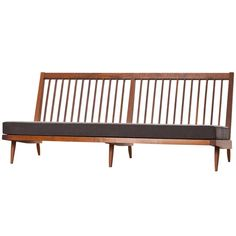 George Nakashima Sofa | From a unique collection of antique and modern sofas at http://www.1stdibs.com/furniture/seating/sofas/