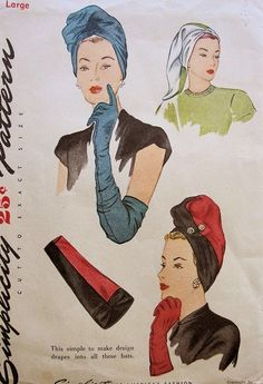 Wrapped Up in Glamour: 1940's Turbans