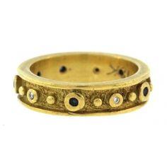 Venus Sapphire and Diamond Ring