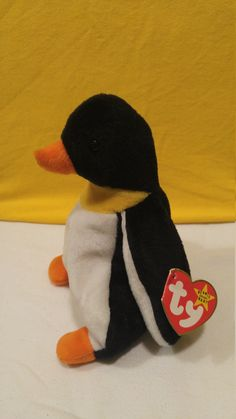 668c729ee93 Waddle The Penguin Original Retired Ty Beanie Baby Style 4075