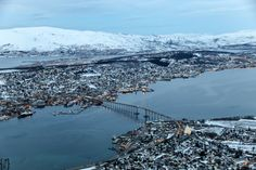 View from Storsteinen, Tromso, Norway
