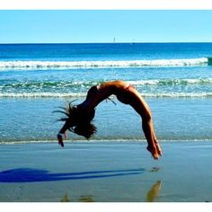 To be able to take a picture like this, this summer...  back handspring goal!