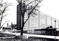 """Tipo C"""" edificio de apartamentos, Nonoalco Tlatelolco, México DF 1962   Arqs. Mario Pani y Luis Ramos - Type C apartment building, Nonoalco-Tlatelolco, Mexico DF 1962"""