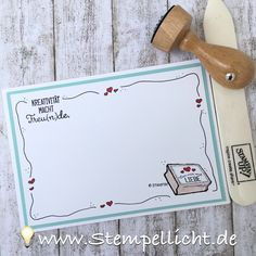 Kreiert mit Liebe Doodle-Rand-Karten mit Stampin´Up Stempel Set.