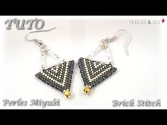 { TUTO } Boucles d'oreilles en perles miyuki | brick stitch | Perles and c - les tutos de Cassie Mini
