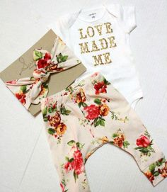 cool Glitter Baby Shower Gift/ Newborn Set/ Coming Home Outfit/ Baby Gift/ Newborn Girl/ Baby Girl Clothes/ Newborn Girl Take Home Outfit