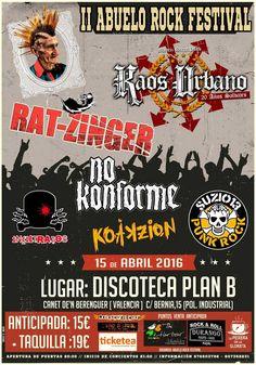II Abuelo Rock Festival se celebrará en Valencia el 15 de abril