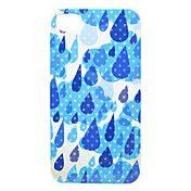 Modrá Raindrop Zpět pouzdro pro iPhone 4/4S – GBP £ 2.99