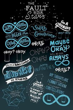 The Fault In Our Stars - Typographic - Official Poster
