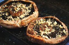 Roasted Portobellos with Roasted Peppers and Blue Cheese