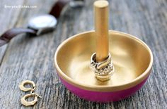 Ring holders are often made from clay and tend to look homemade, unless you're a professional potter.