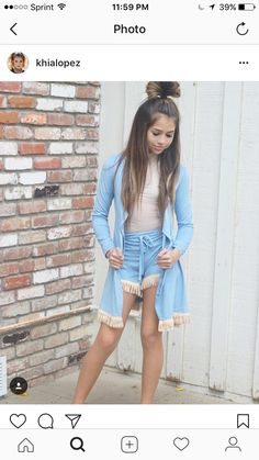site 👉👉👉 Pandora Jewelry OFF Cute Girl Outfits, Kids Outfits Girls, Sexy Outfits, Fashion Outfits, Short Outfits, Tween Fashion, Little Girl Fashion, Khia Lopez, Teen Girl Poses
