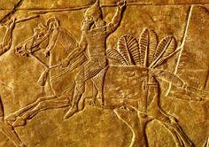 Soldado assírio da cavalaria, Arte persa.