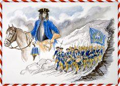 """Det kom inte att dröja länge förrän Carl Gustaf Armfeldts (*1666 †1736) karoliner marscherat fram genom terräng där """"ingen människa kan färdas"""" enligt såväl militär expertis som de som levt och bott bland bergen hela sitt liv. Norrmännen utmanövrerades snabbt, fick lämna sina gränsbefästningar och i hast retirera mot de starka fästningarna vid Trondheim. Bild: Alf Lannerbäck"""