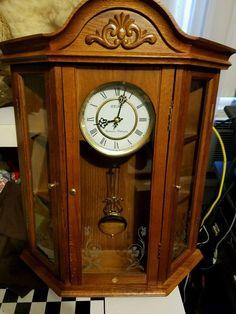 Seiko Wall Clock Wood Case Pendulum U0026 Westminster/Whittington Chime Etched  Glass #wall Clocks