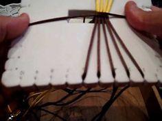 ▶ Pulsera kumihimo cuadrado plano marrón moda - YouTube