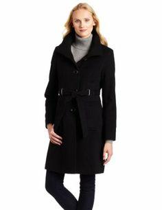 Via Spiga Women's Blend Wool Coat, Black, 10 Via Spiga. $180.42