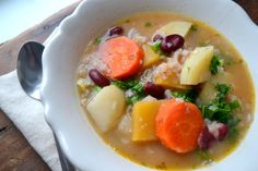 Kirsten's Kitchen: of vegan creations: Root vegetable soup. Do not add oregano!
