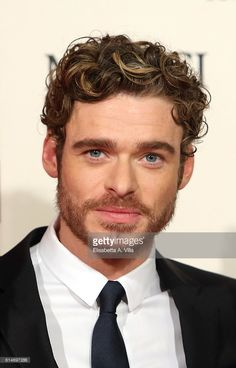 Richard Madden walks a red carpet for 'I Medici' (Medici Masters Of Florence) at Palazzo Vecchio on October 14, 2016 in Florence, Italy.