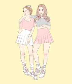 Tennis Skirts | Fashion Illustration by Mawee Borromeo