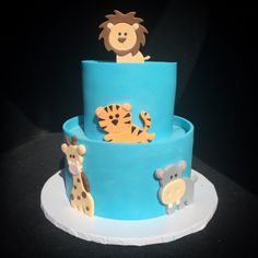 Quite the looker this cute-as-can-be shower cake, complete with a small cast of sugar creatures! By City Cakes in NYC http://instagram.com/citycakes