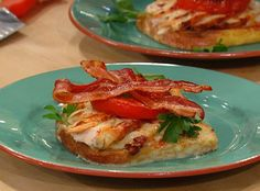 Bobby Flay does a Kentucky Hot Brown Sandwich, Turkey, Mornay sauce, Bacon and Tomato