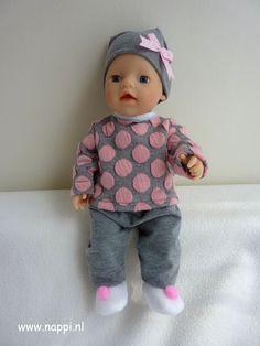 Winterkleding / My little Baby Born 32 cm | Nappi.nl trui, muts en broekje, patroon Christel Dekker