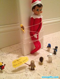 Naughty lego men! My elf would kick the crap out of them!