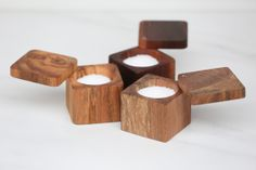 handmade salt cellars from the wooden palate. made from reclaimed pieces of the atlantic city boardwalk! http://thewoodenpalate.com/index.php?route=product/product&path=68_62&product_id=58