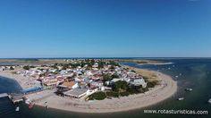 Vista aérea da Ilha da Armona.