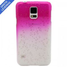 Pink Samsung Galaxy S5 Cover - Vanddråbe Design