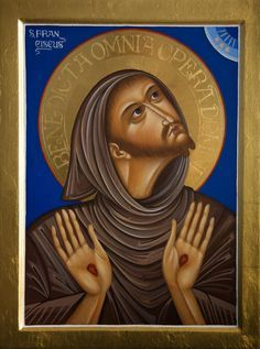 Lyuba Yatskiv Manado, Lives Of The Saints, San Francisco, Francis Of Assisi, Religious Images, Sacred Art, Catholic, Contemporary Art, Spirituality