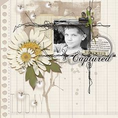 Digital Scrapbook Page Layout by Anita using File It Away, Dated Wires, Kraft Papers and Summer Journal Mason Jars all from Etc by Danyale at The Lilypad #etcbydanyale #digitalscrapbooking #memorykeeping #neutrals #kraft