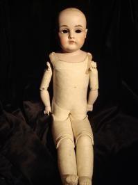 Haunting Eyeless German Bisque Doll