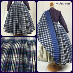 Preparada otra saya plisada. Confeccionada a mano con un tejido antiguo. Aragon, Shirt Dress, Fashion Outfits, Sewing, Skirts, Inspiration, Clothes, Dresses, Regional