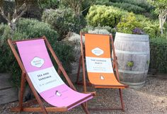 Penguin Books Deckchairs by MoreOutside: quintessentially British hand-made beech frame and hand printed cotton sling chairs for curling up with your favorite read. #Chair #Deck_Chair #Penguin_Books