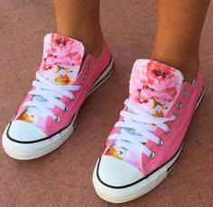 Floral Converse Shoes by LoveChuckTaylors2 on Etsy