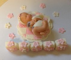 FONDANT BABY CAKE Topper  Baby Girl Quilt Fondant Cake Topper elephant stuffed animal giraffe safari jungle theme baby shower