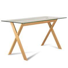 Стол AIR из массива дуба (бука) покрыт натуральным маслом. Воздушный минималистичный дизайн для современных интерьеров. Стол письменный для домашнего офиса и не только.