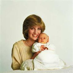 Princess Diana and Baby William.