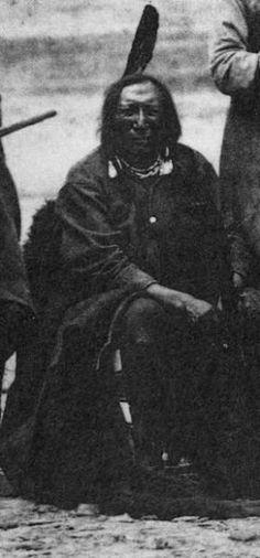 Woo-ka-nay (aka Roman Nose, aka Crooked Nose, aka They Are Afraid Of His Shield) - Mniconjou - 1868