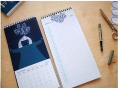 2014 illustrated Calendar on Behance