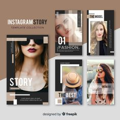 More than 3 millions free vectors, PSD, photos and free icons. Exclusive freebies and all graphic resources that you need for your projects Instagram Design, Instagram Story Template, Instagram Story Ideas, Instagram Feed, Social Media Template, Social Media Design, Banner Design Inspiration, Fashion Banner, Magazine Layout Design