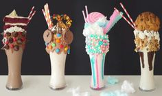 I did not have a spare 2 hours to que up for one of these crazy milkshake… – Kolay yemek Tarifleri Candy Drinks, Yummy Drinks, Yummy Food, Cute Desserts, Dessert Recipes, Crazy Shakes, Milk Shakes, Milkshake Recipes, Starbucks Drinks