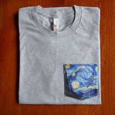 Camisas de bolsillo de Noche estrellada de Vincent por GrayClothing