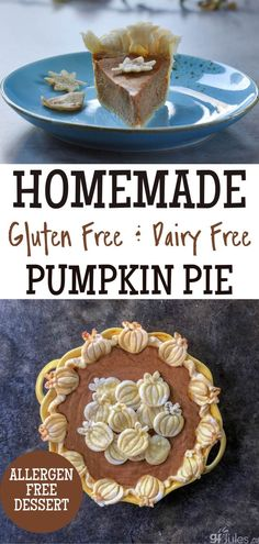 This allergen-free Pumpkin Pie is great for the holidays! With the perfect light and flaky homemade gluten free pie crust, it's a perfect option for any of your guests during the holiday season. Who says you can't eat pie if you're gluten and/or dairy free? This pie is absolutely delicious, too! Dairy Free Pumpkin Pie, Pumpkin Pie Recipes, Fall Recipes, Gluten Free Pie Crust, Best Pumpkin, Homemade, Autumn, Holidays, Eat