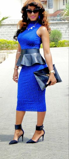 Bold Blue…by 2Nu Kollexion - love the dress, the rest is just a bit too over the top for me